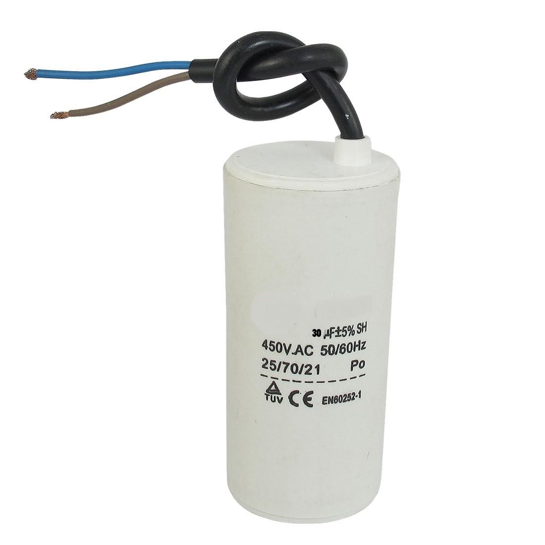 Motor run capacitor 1.0 µF 30 x 50mm 450Vac 5%  85°C