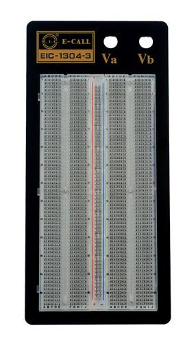 Soldeerloos breadboard met 1360 ronde gaten - transparant