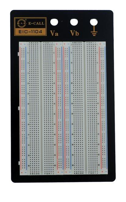 Soldeerloos breadboard met 1660 ronde gaten - transparant