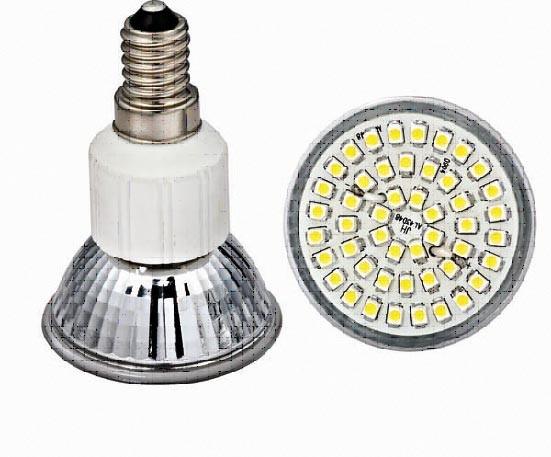 Led lamp E14 - 48 SMD LEDs -Warm wit - 230V AC