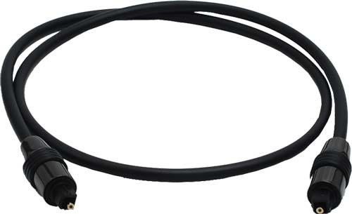 TOSlink optical plug - TOS male <-> TOS male - 0,75m