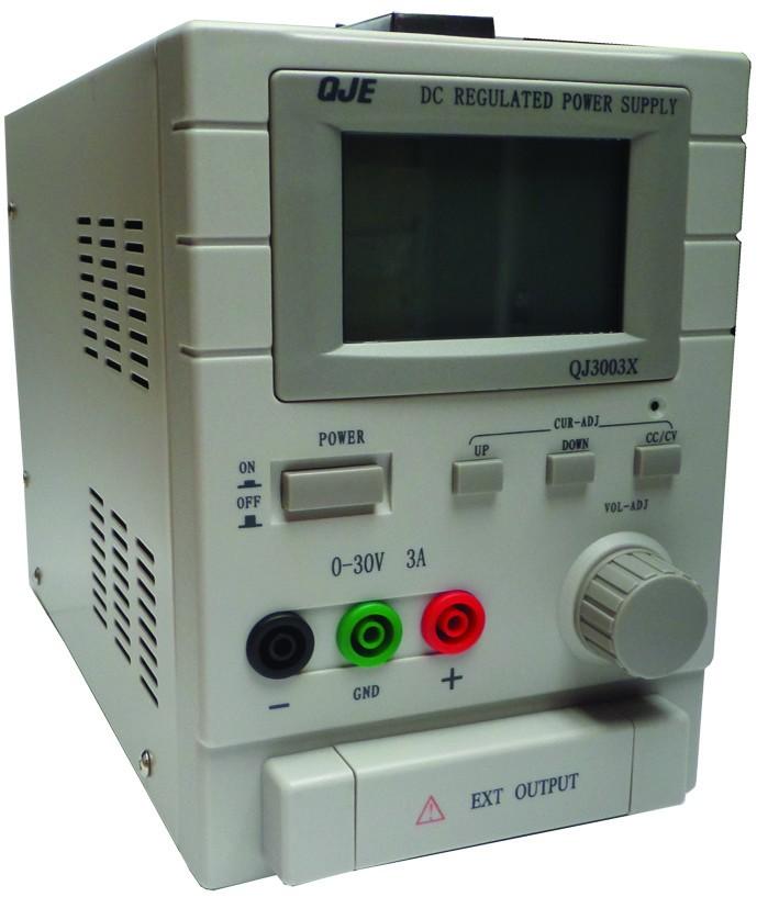 Labovoeding met LCD display - 0-30V / 0-3A enkel