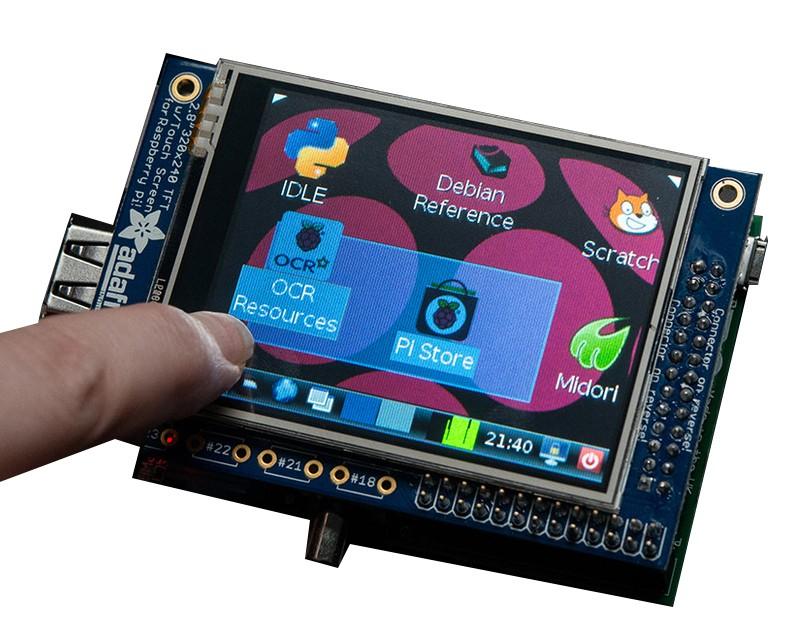 "PiTFT 320 x 240 2.8"" TFT touchscreen for Raspberry"