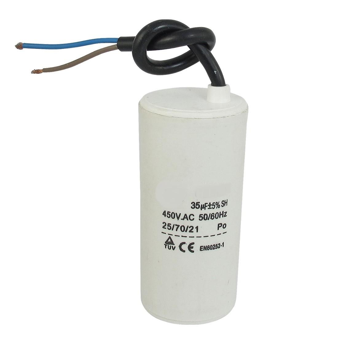Motor run capacitor 6 µF 30x60mm 450Vac 5%  85°C
