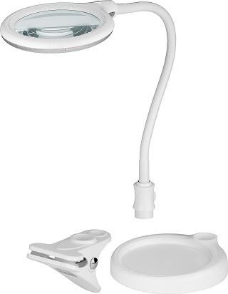 LED-Bureaulamp 3D + 12D met vergrootglas 30 LEDS - 6W