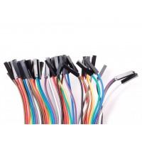 """Premium Female/female jumper wire 40x6"""" (150mm)"""