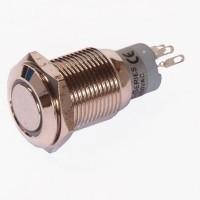 Enkelpolige drukknop ON-ON 1A/24VDC 0,5A/230VAC wit