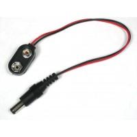 9V batterij clip met 5,5mm/ 2,1mm plug