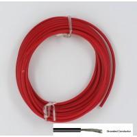 Soepele Montagedraad 5m rood 1mm²