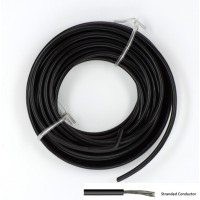 Soepele Montagedraad 5m zwart 2mm²