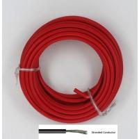 Soepele Montagedraad 5m rood 2mm²