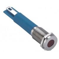 Signaallamp LED 12-24V Rood metalen uitvoering
