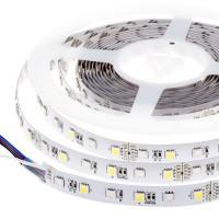 IP22 ledstrip - RGB + warm wit 60 SMD5050 leds - 5m - 24VDC - IP22 -  Professional line