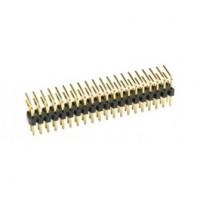 Haakse connectorrij 2x50 pin - vergulde contacten - Mannelijk - P2,54 - Afbreekbaar