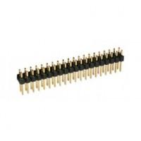 Rechte connectorrij 2x50 pin - vergulde contacten - Mannelijk - P2,54 - Afbreekbaar