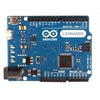 Arduino LEONARDO met headers programmeerbord.