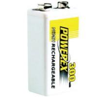 Herlaadbare 9V-batterij (E-Block) - 9V 300mAh - NiMH - 1 stuk