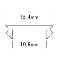 Cover 200cm 15,4mm -mat- voor ALUPRO-S