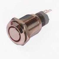 Enkelpolige drukknop ON-ON 1A/24VDC 0,5A/230VAC rood