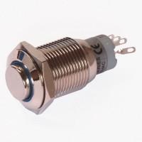 Enkelpolige drukknop ON-ON 1A/24VDC 0,5A/230VAC blauw