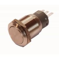 INOX Drukknop enkelpolig 5A/250VAC IP68 - ON-(ON)