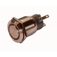 INOX Drukknop enkelpolig 5A/250VAC IP65 - ON-ON