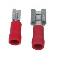 Opschuifcontact vrouwelijk 2,8x0,8mm Rood - 10 stuks