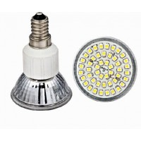 Led lamp E14 - 48 SMD LEDs -Warm wit - 230V AC