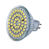 Led lamp MR16 - 48 SMD LEDs -Koud wit - 12V