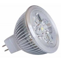 4x1W Ledlamp - MR16 - Warm wit - 12V AC/DC