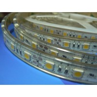 Waterdichte ledstrip - Warm Wit - 300 type 5050 leds 24VDC - Ultra bright