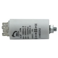 Motor run capacitor 10 µF 35x65mm 450Vac 5%  85°C