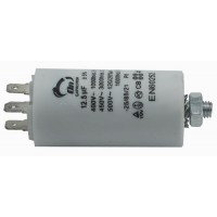 Motor run capacitor 12,5 µF 35x65mm 450Vac 5%  85°C