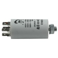 Motor run capacitor 1 µF 30x57mm 450Vac 5%  85°C