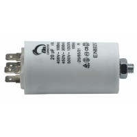 Motor run capacitor 20 µF 40x70mm 450Vac 5%  85°C