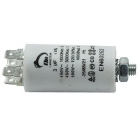 Motor run capacitor 3 µF 30x57mm 450Vac 5%  85°C