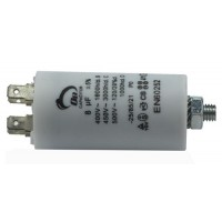 Motor run capacitor 8 µF 35x65mm 450Vac 5%  85°C