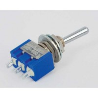 MS-500B -Toggle Switch Enkelpolig ON-(ON) 6A - 125V / 3A -250V