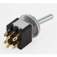 MS-245 Mini Toggle Switch dubbelpolig  ON-ON 3A-125VAC