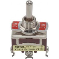Toggle Switch Enkelpolig ON-OFF-ON 15A - 250V TS-003