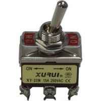 Toggle Switch Dubbelpolig ON-ON 15A - 250V  TS-005