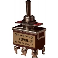 Toggle Switch Dubbelpolig ON-OFF-ON 15A - 250V  TS-006