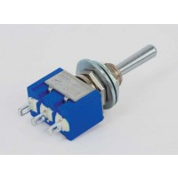 MS-500E Toggle Switch Enkelpolig  (ON)-OFF-(ON) 6A-125V/3A-250V