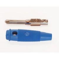 B113 Banaanstekker Blauw 4mm Met schroefaansluiting - Voor op kabel - Hirschmann