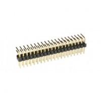 Haakse connectorrij 2x17 pin - vergulde contacten - Mannelijk - P2,54 - Afbreekbaar