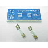 Zekering 5x20mm - traag - 80mA - 230V