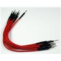 Jumper wire oranje Male - Male lengte: 10cm 10 stuks