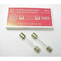 Zekering 6,3x32mm - snel - 1,6A - 230V