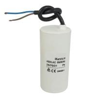 Motor run capacitor 25 µF 40x93mm 450Vac 5%  85°C