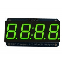"Adafruit 0.56"" 4-digit 7-segm. Display w/I2C Backpack - Green"